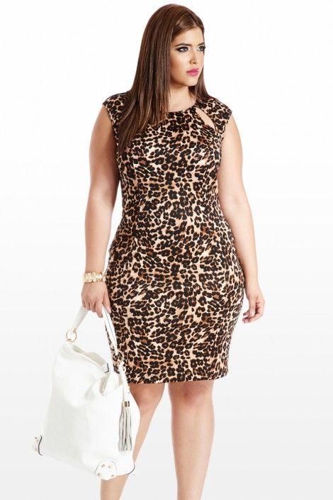 Feline By Me Animal Cutout Dress Fashion to Figure