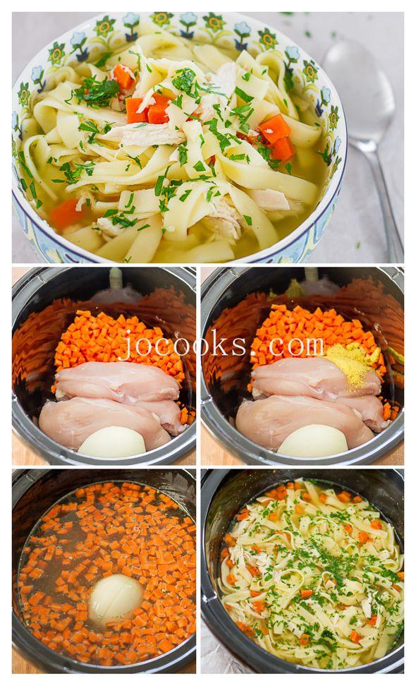 Crockpot Chicken Noodle Soup - Jo Cooks