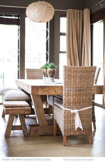 HomeandEventStyling.com - http://meganmorrisblog.com/2013/08/rustic-dining-room-tables/