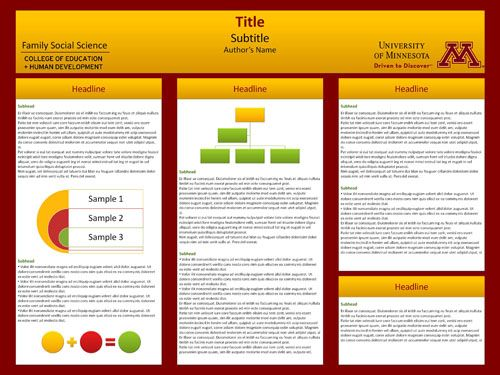 University of Minnesota templates are available for