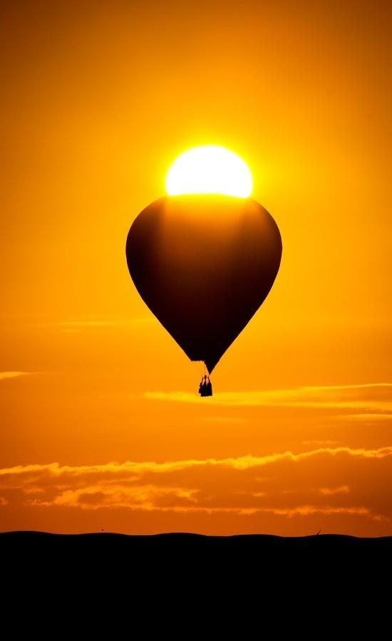 Hot Air Balloon in the Sun