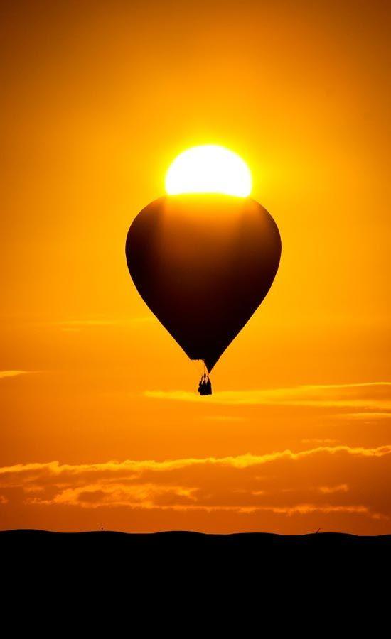 Hot Air Balloon in the Sun