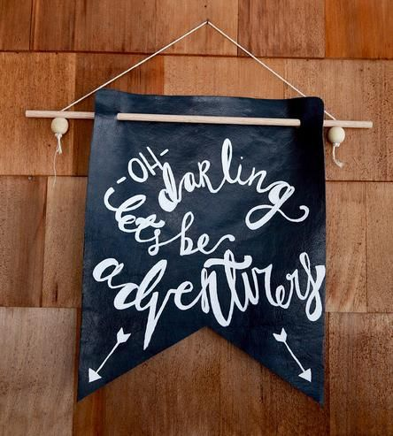 let's be adventurers, quote, DIY, banner