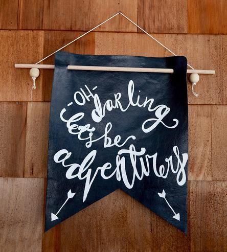 let's be adventurers, quote, DIY, banner