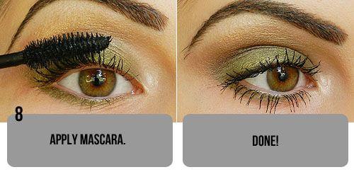 Natural Olive Green Eyeshadow Tutorial.