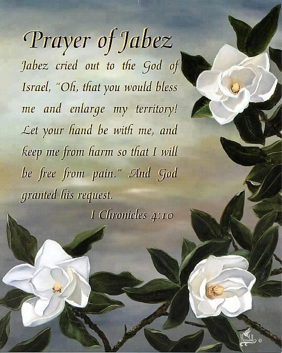 Just love this prayer... it really does work!!! ... The Prayer Of Jabez...