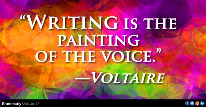 Image result for writing is the painting of the voice quote