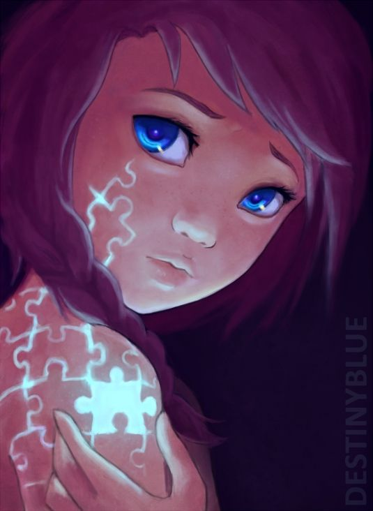 Beautiful Anime Art - Puzzles, an interesting idea I do love the aesthetic though.