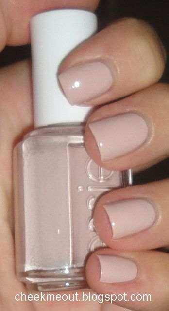 Essie Topless & Barefoot - wearing on my nails now, a perfect beige-y nude.