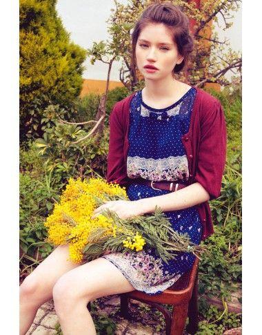 Vestido Barroque Azul - tiendaonline #autumn #dress