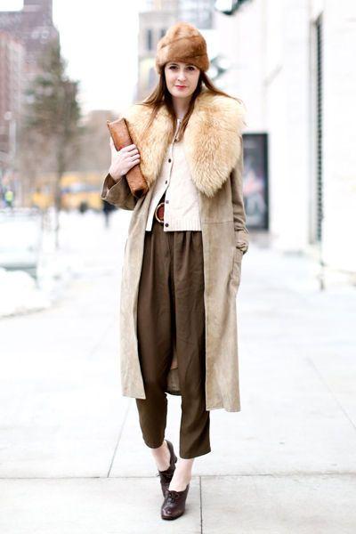 fourrure streetstyle fashion week new york automne hiver 2013 2014