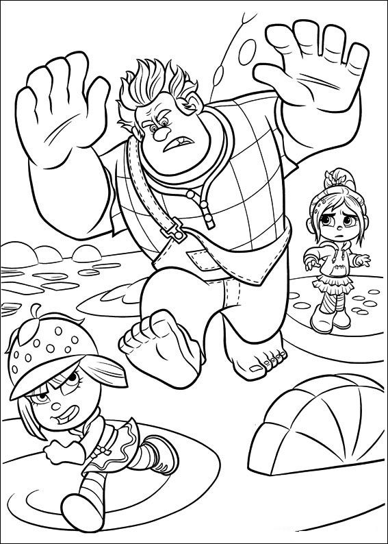wreck it ralph coloring pages  imagination in colors