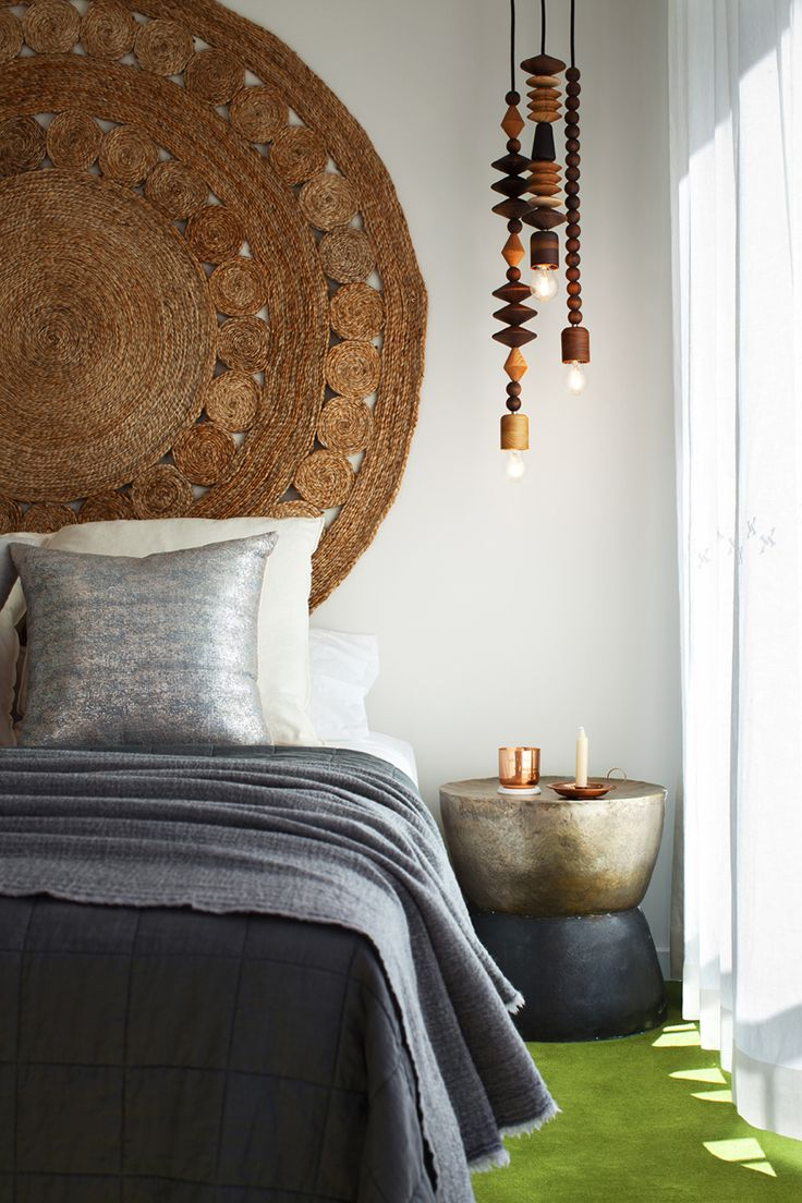 Rug as Headboard, pendants