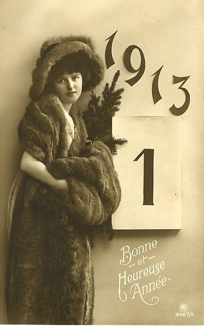 1913 New Year Postcard