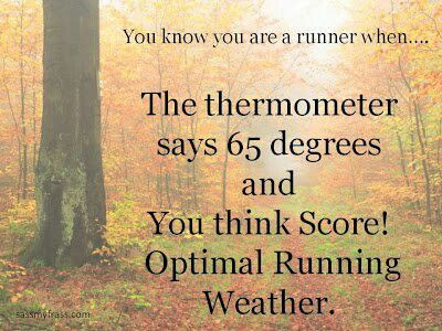 Running weather....unless the humidity says 95-100%. Lol