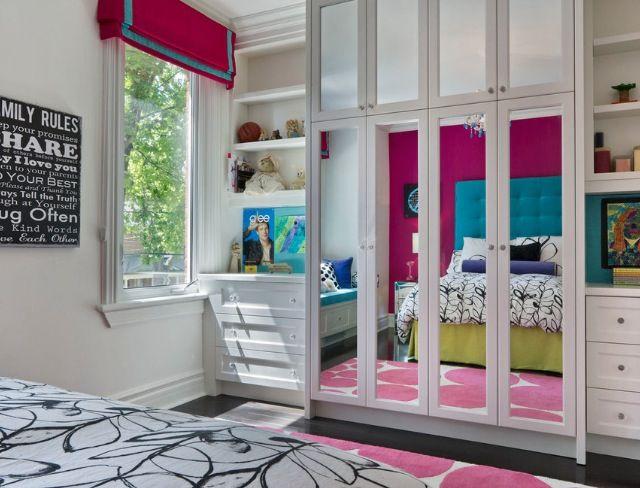 Mirror closet girls bedroom idea   Macie   Pinterest on Mirrors For Teenage Bedroom  id=69783