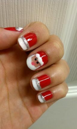 Christmas nails. Wish they would really turn out this way if I tried to do it!