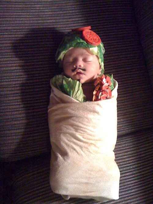 A Baby Burrito | 30 Best DIY Kids Halloween Costumes Your Mom Never Made For You