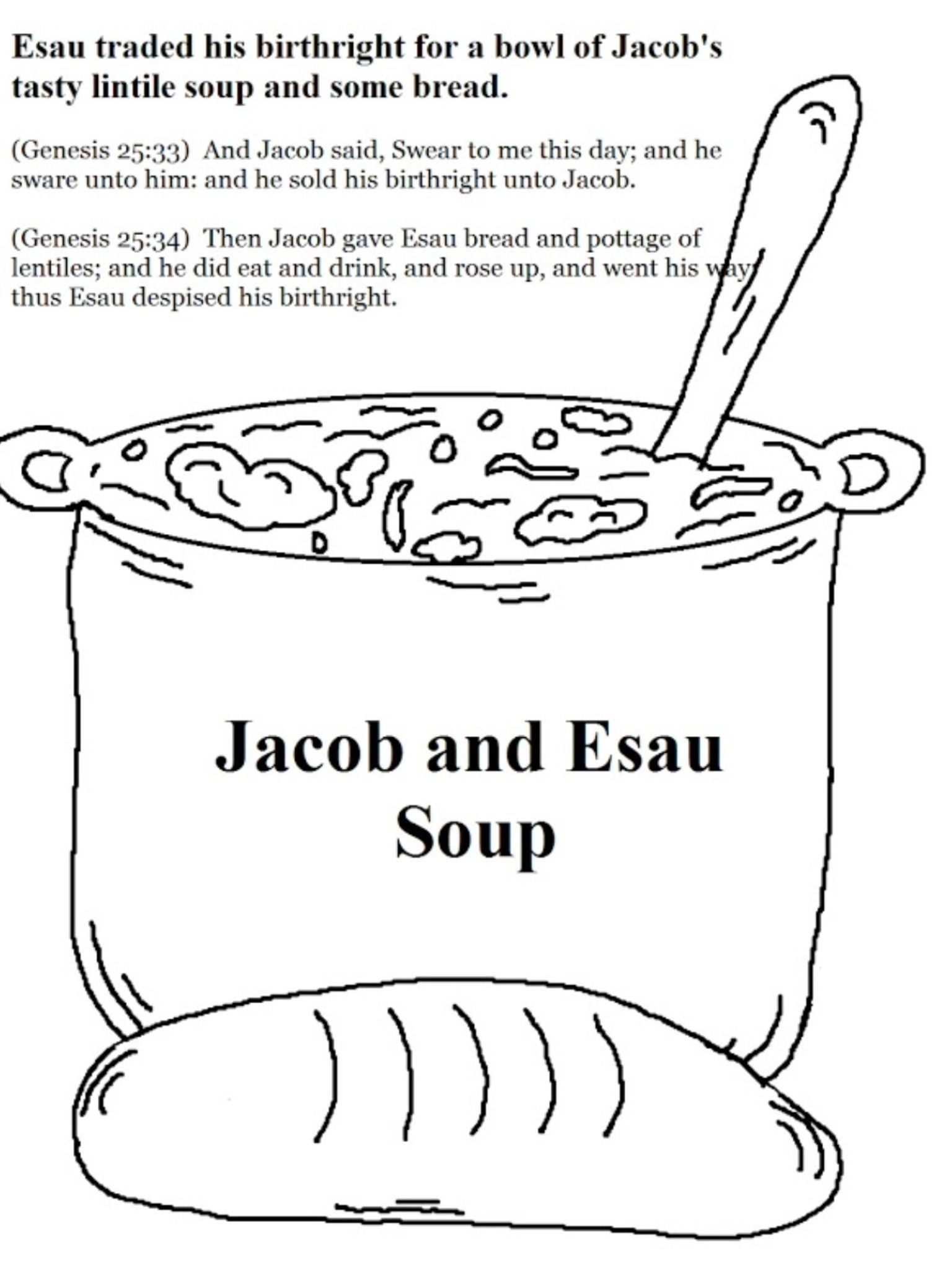 Jacob And Esau Soup