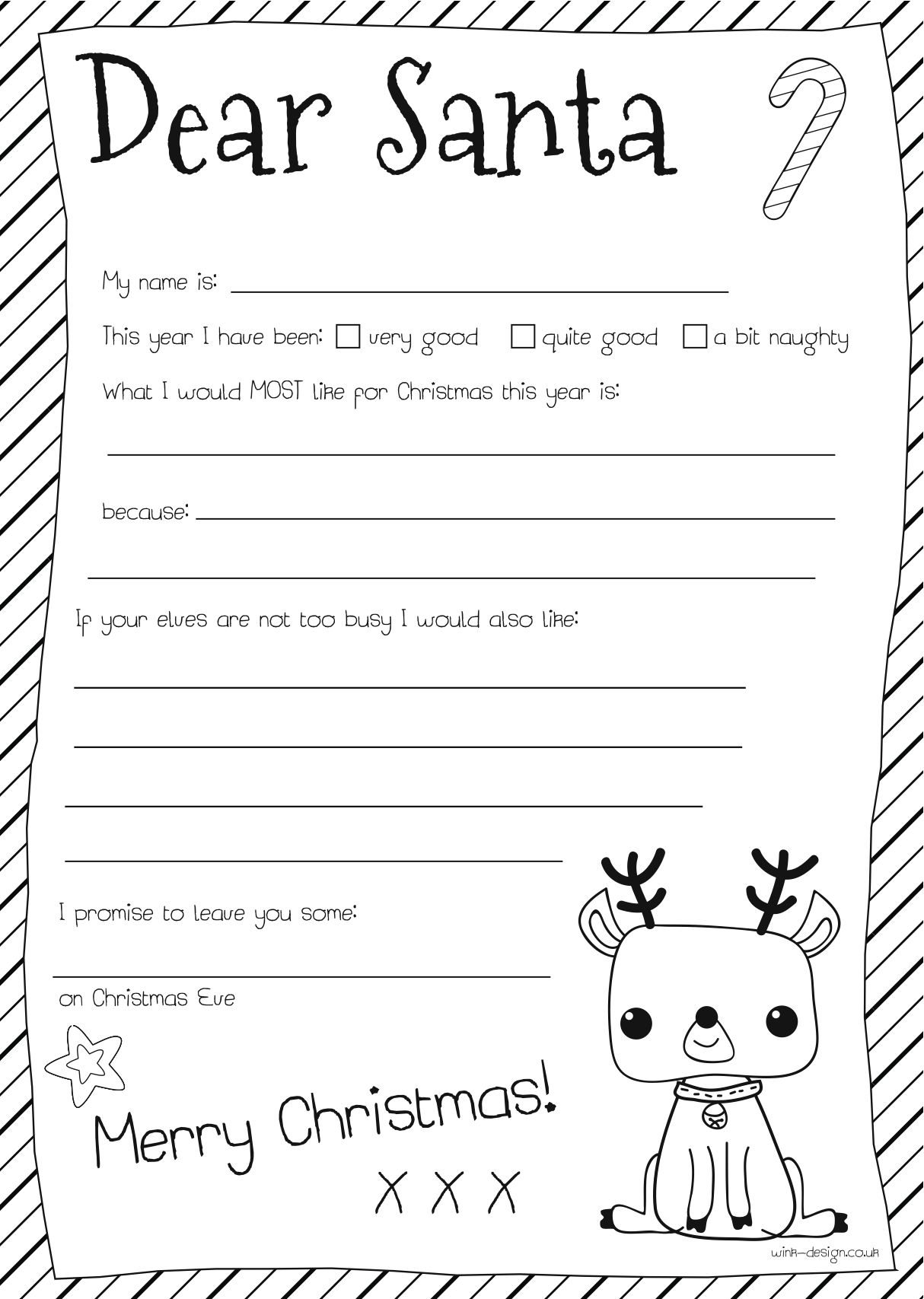 Santa Letter Letters And Letter To Santa