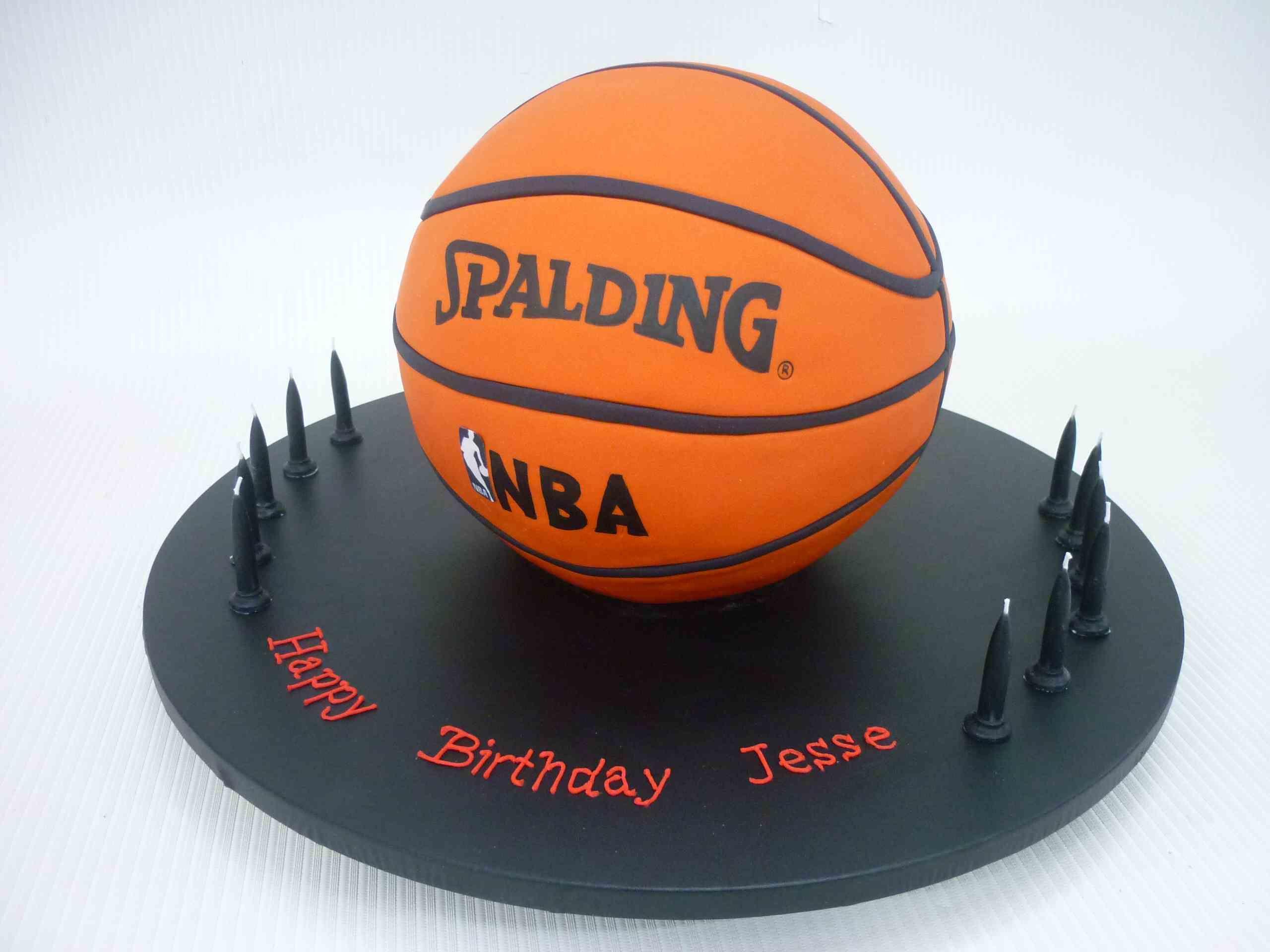 3d Spalding Basketball Cake