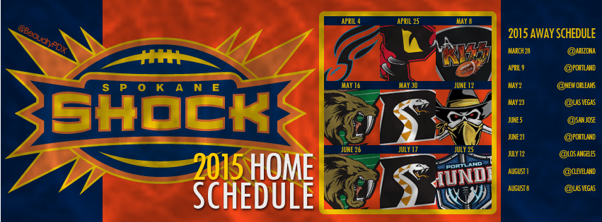 2015 Spokane Shock schedule cover image