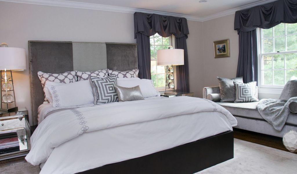 Silver/ grey master bedroom design | Master Bedroom Ideas ...