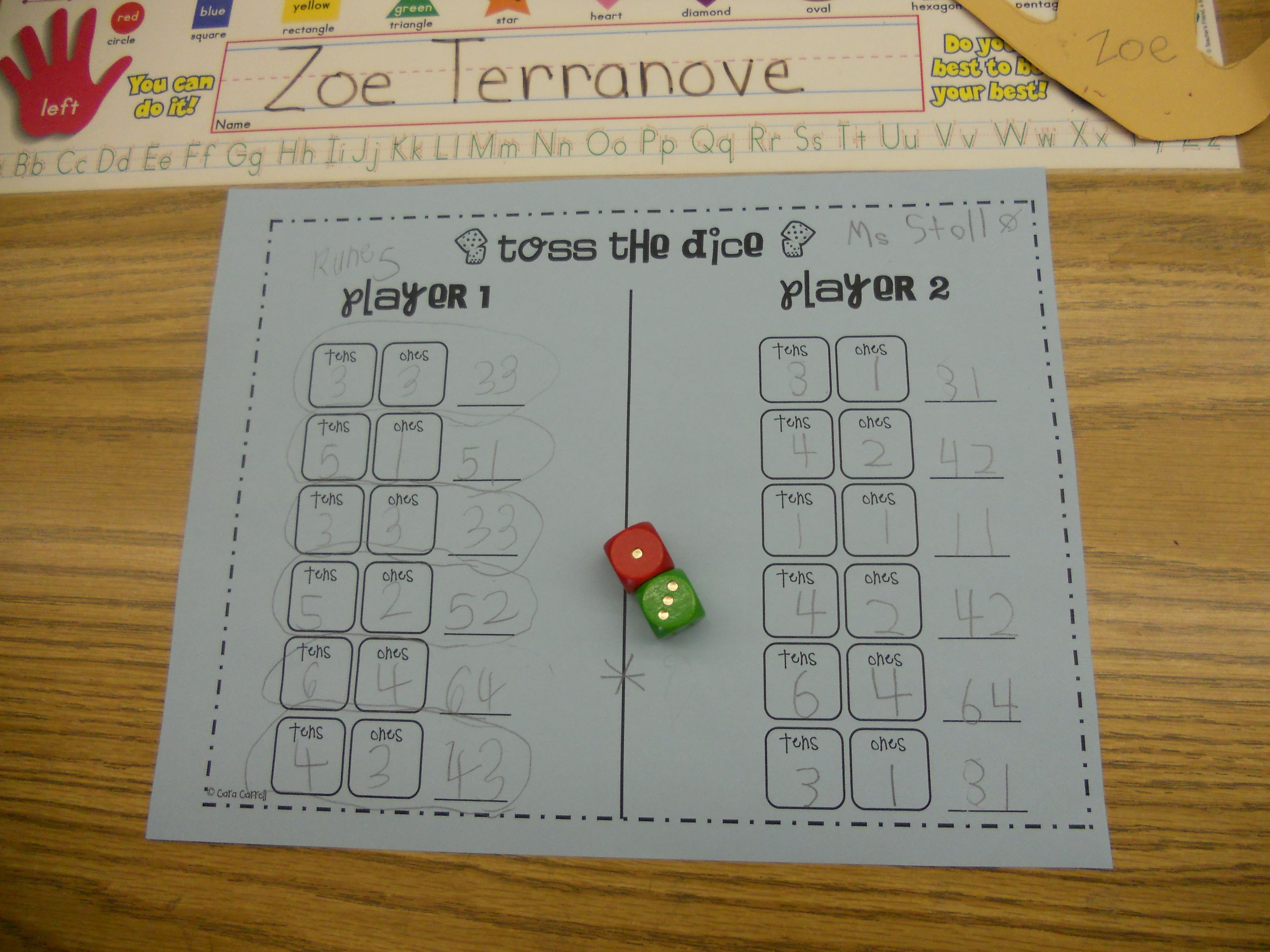 The Place Value Dice Game