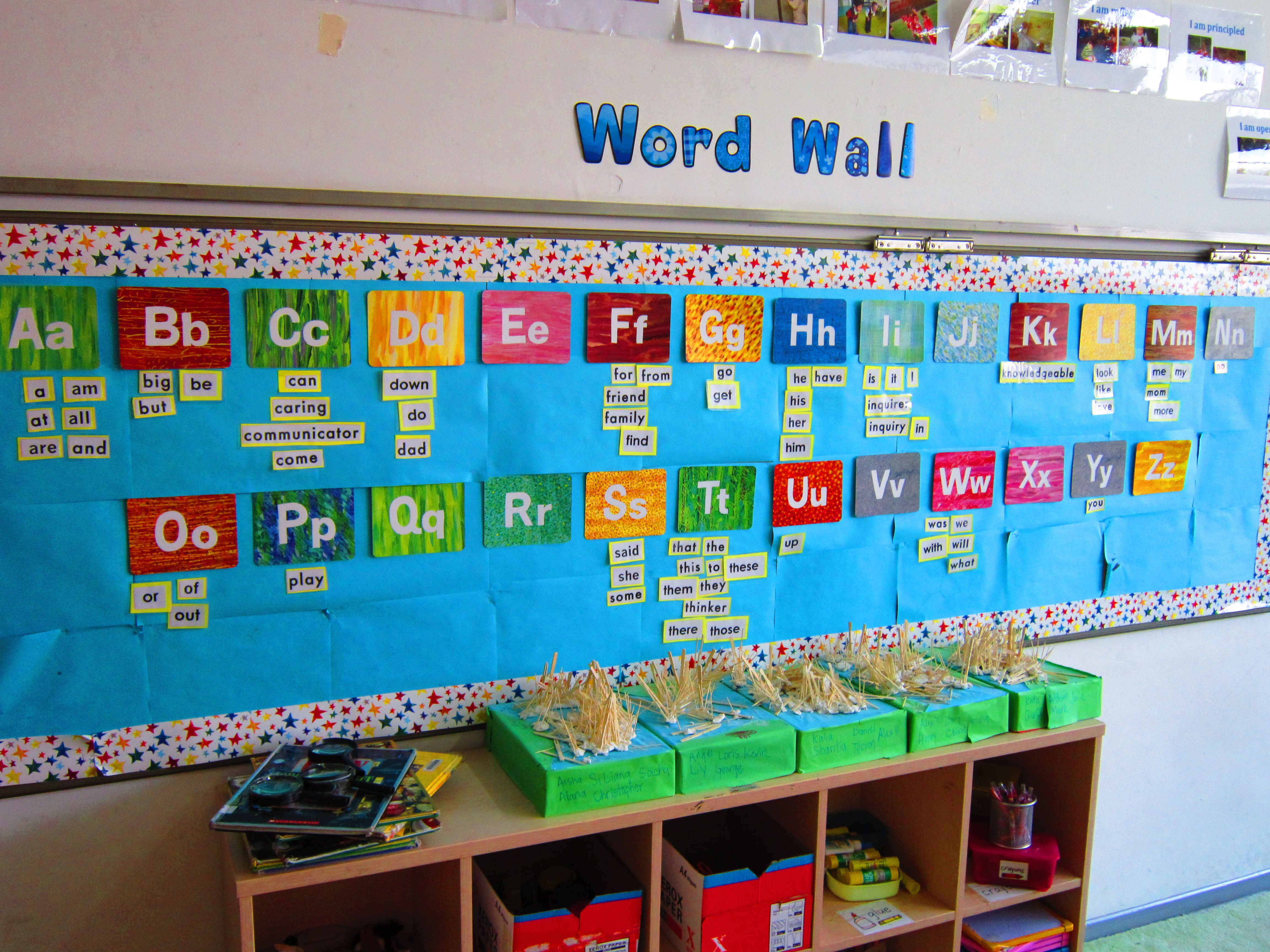 kindergarten word wall eric carle classroom visuals on word wall id=75956