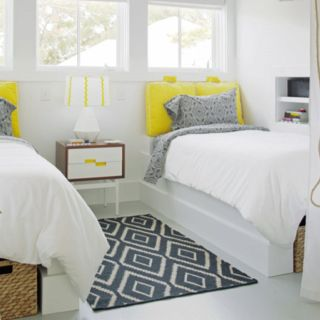 Adding color to white.  From Houzz.