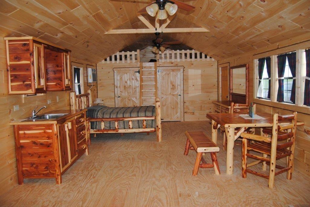 16x32 Portable Building Interiors