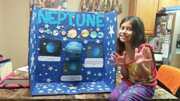 School project of planet Neptune School projects Pinterest
