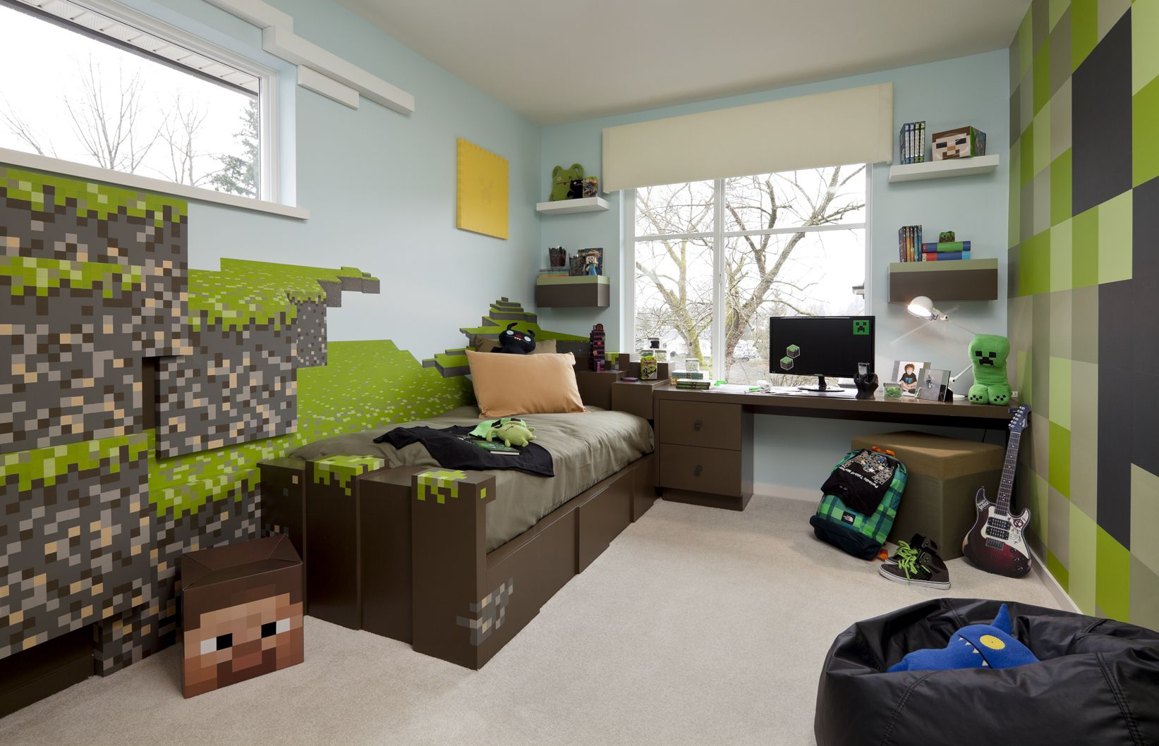 Minecraft Kids Bedroom Minecraft Pinterest