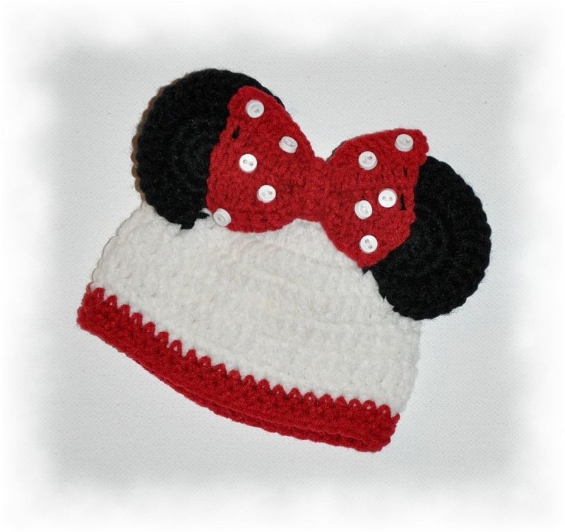Minnie Mouse Crochet Hat Free Pattern For Babies