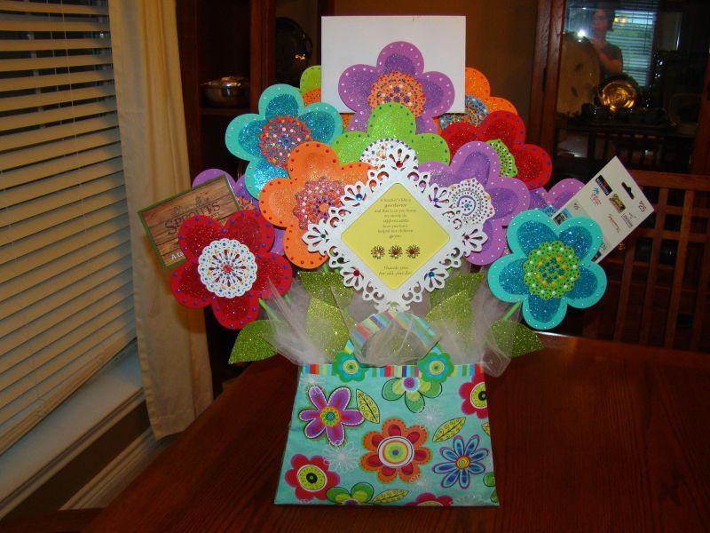 Gift card bouquet for teacher crab feed ideas pinterest