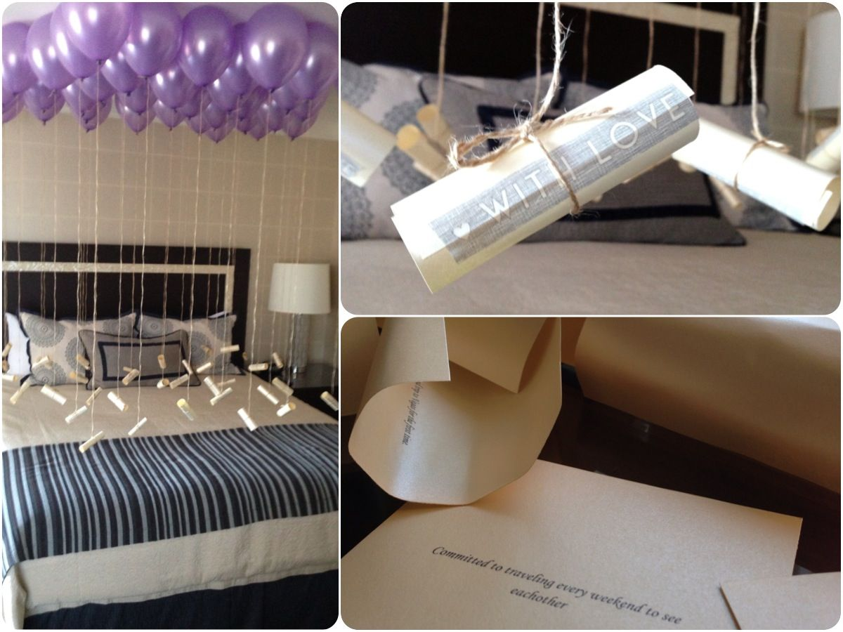 Birthday room decoration ideas for husband for Room decoration ideas anniversary