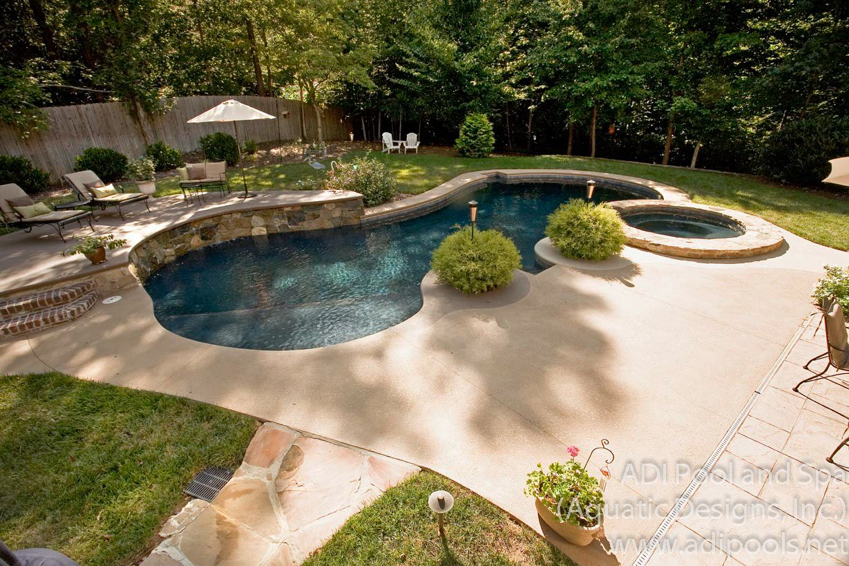 Backyard pool landscaping ideas   Pools   Pinterest on Backyard Pool And Landscaping Ideas id=74644