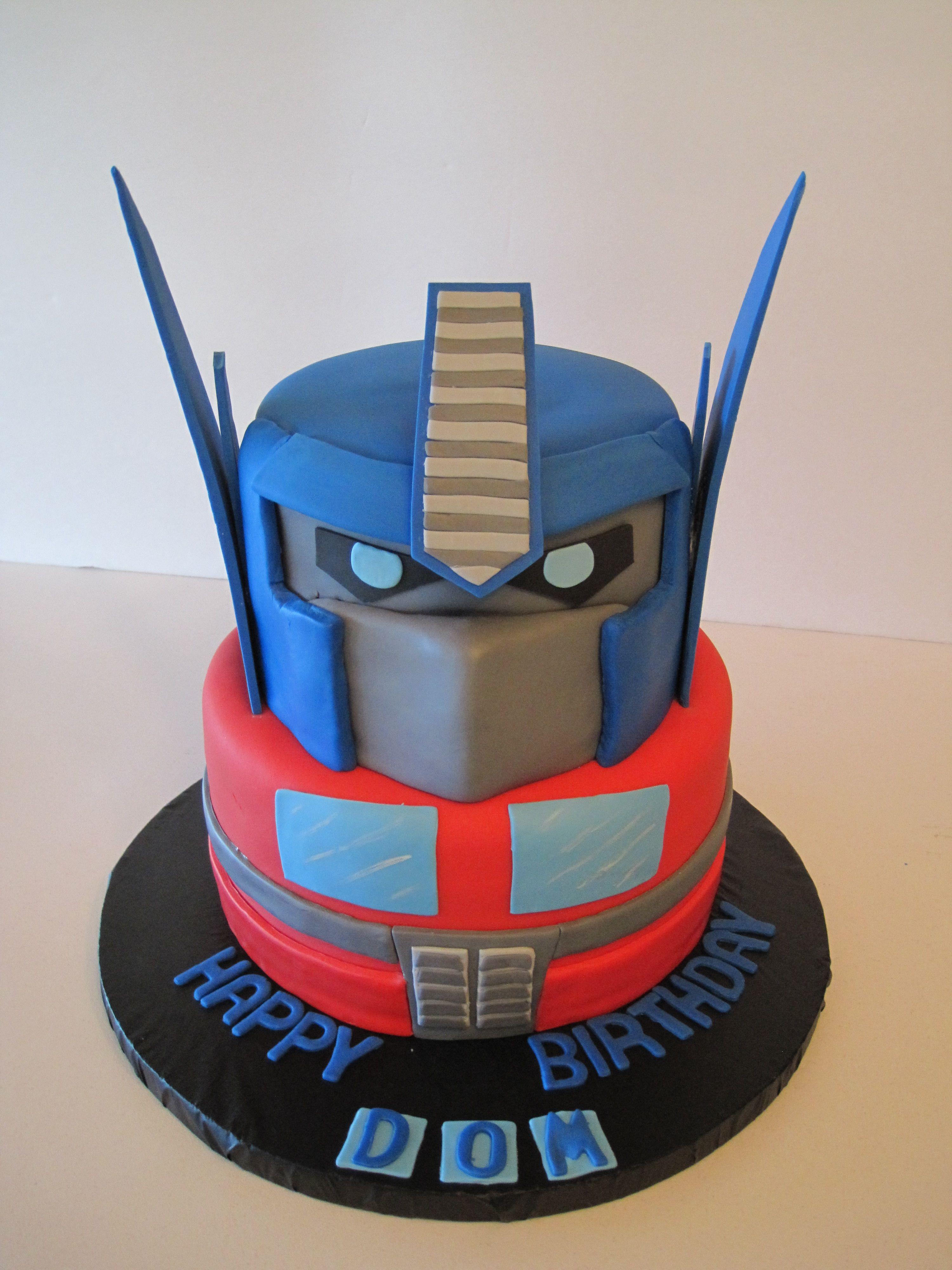 Transformer Cake Ideas Birthday Party