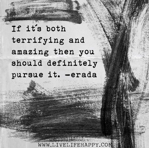 If it's both terrifying and amazing then you should definitely pursue it. - Erada