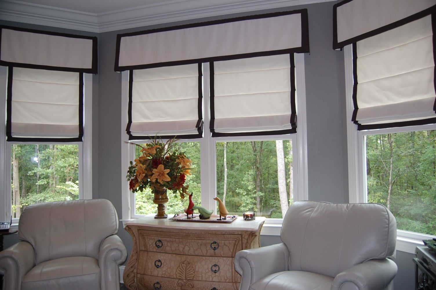 Roman Shades With Flat Valance Home