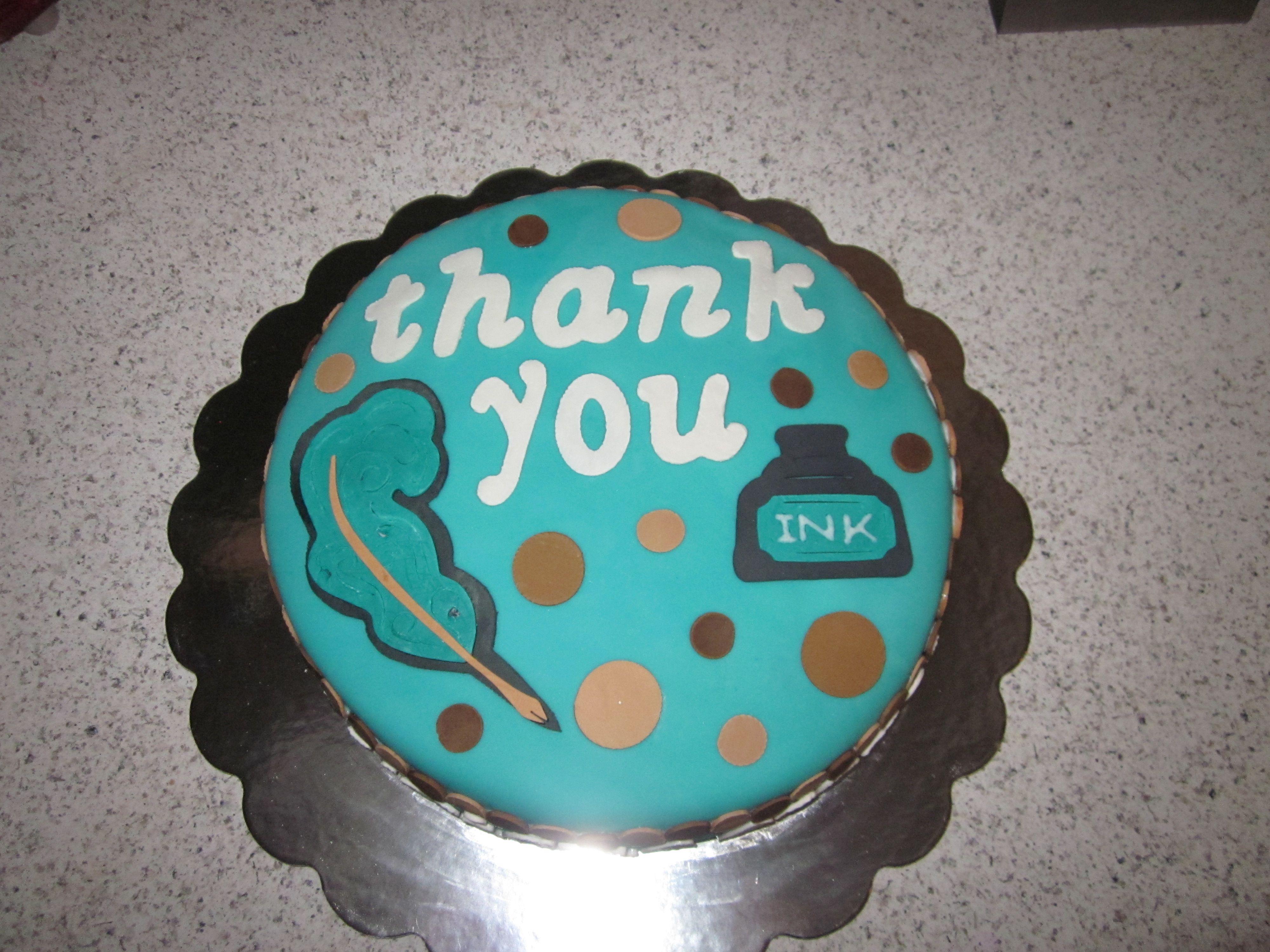 Escrow Co Thank You Cake