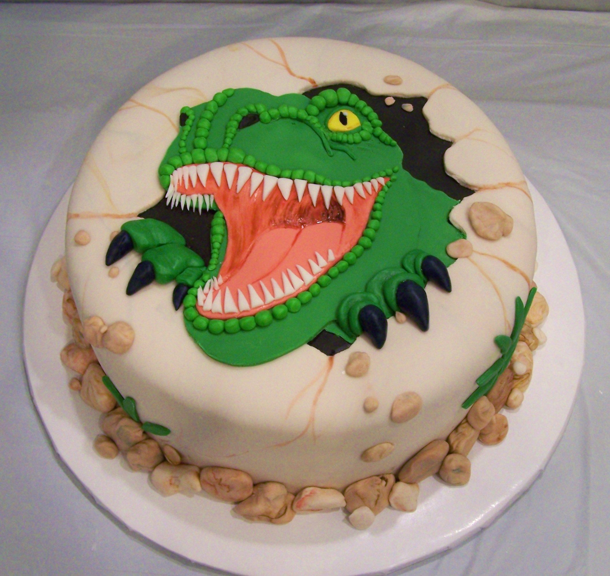 T Rex Birthday Cake
