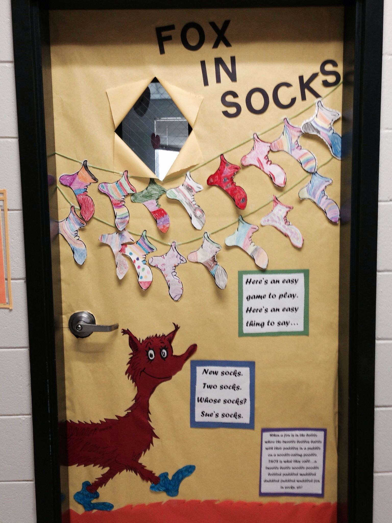 Fox In Socks Door
