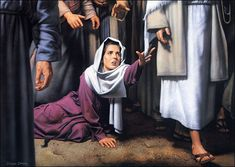 Jesus heals hurting woman...