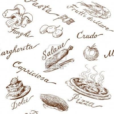 italian food seamless pattern