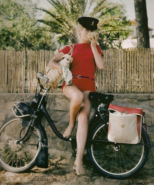 Catherine Deneuve in St. Tropez, 1965. Photo by Milton H. Greene