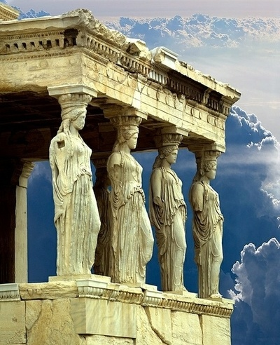 dyingofcute:    Porch of the Caryatids, Parthenon, Athens