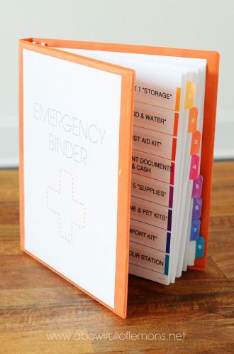 Family Emergency Binders ~ Mom with a Prep {blog}
