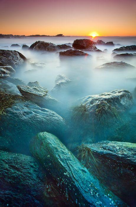 Alba, Sachuest Point nel sud della Rhode Island.