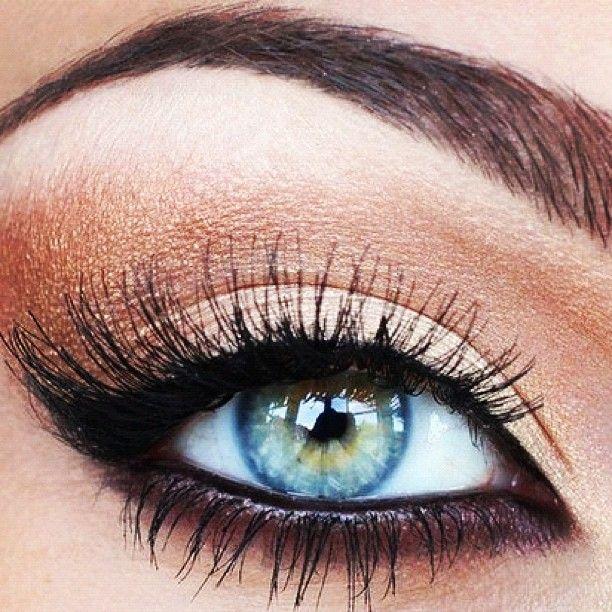 ögonskugga till blå ögon